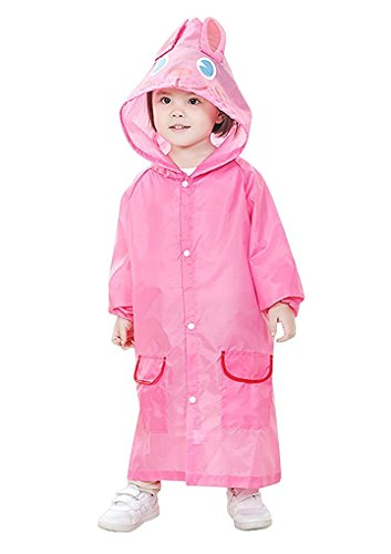 Children Waterproof Rain Coat Kids Raincoat Rainsuit Toddler Animal Cartoon Hooded Rain Jacket Poncho Rainwear