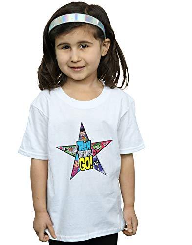 een Titans Go Star Logo T-Shirt Weiß 7-8 Years ()