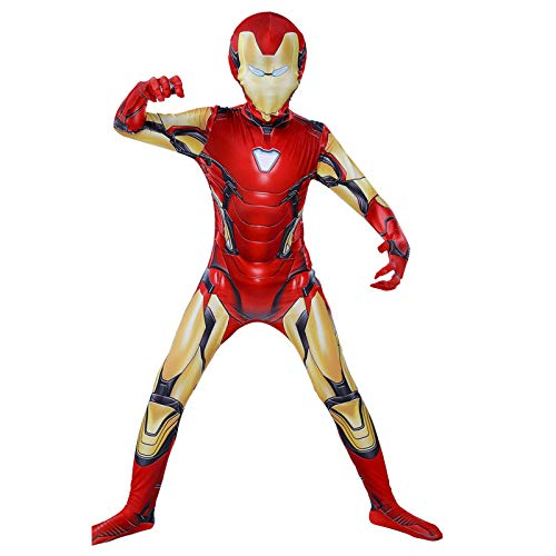 n Man Cos Kostüm Superhelden Cosplay Verkleidung Halloween Mottoparty Strumpfhosen 3D Druck Spandex Onesies,Child-140 ()