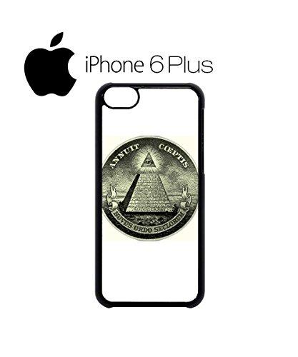 Illuminati Pyramid Eye Masonic Masons Symbols Dollars Mobile Phone Case Cover iPhone 4&4s Black Noir