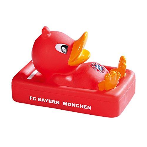 Sound Badeente + gratis Sticker, FC Bayern München FCB rubber duck, pato del baño, canard de bain