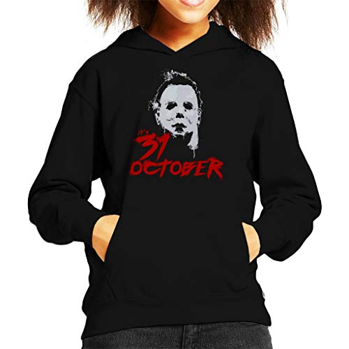 Cloud City 7 Halloween Michael Myers Its 31st October Kid's Hooded Sweatshirt (Michael Halloween-city Myers)