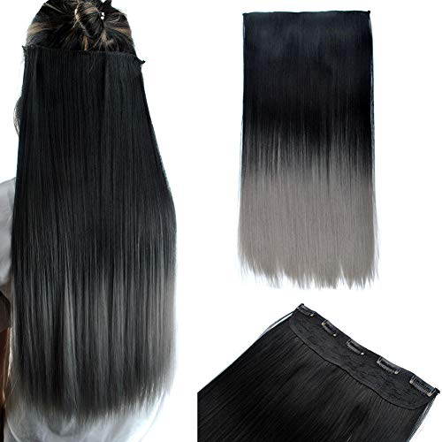 GWSJF 70cm largo cabello liso sin costuras extension-3
