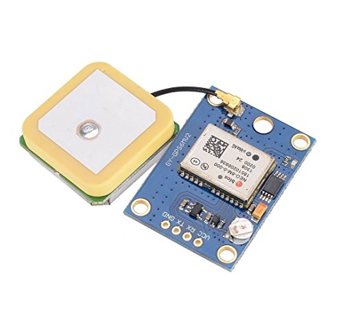 OLatus Gy-Gps6Mv2, Neo6Mv2 Ublox Neo-6M Gps Module with Eeprom Apm2. 5 and Antenna for Mwc/Aeroquad for Flight Control Aircraft Arduino