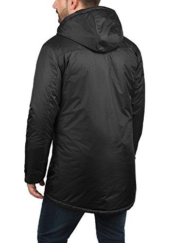BLEND Gabriel Herren Parka lange Winterjacke mit Kapuze aus hochwertiger Materialqualität Black (70155)