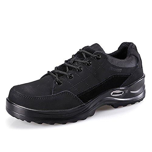 Herren Slip-resistent Stahl-Toe Relaxed-Fit Arbeit Schuh JACKBAGGIO 1109 (9 UK / 43 EU, schwarz) (Schuh-komfort Arbeiten Casual Kleid)