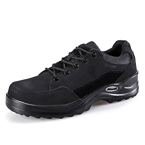 Herren Slip-resistent Stahl-Toe Relaxed-Fit Arbeit Schuh JACKBAGGIO 1109 (9 UK / 43 EU, schwarz) (Maultiere Leinwand)
