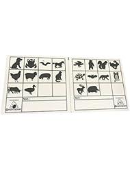 Orientsport 3016190 Tarjetas de Control Animales, 50 Unidades, Transparente, Talla Única