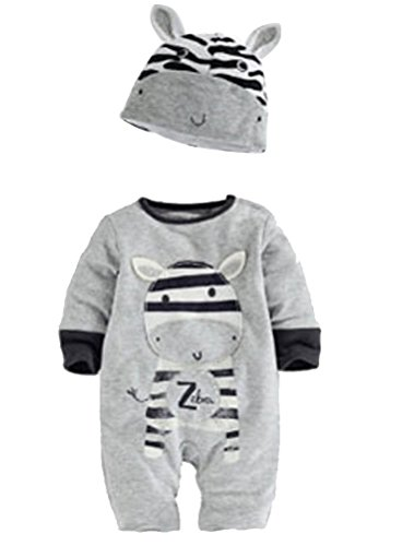 ARAUS Neonata Pagliaccetto Bambini Vestiti Tutine Estivo con Cappello