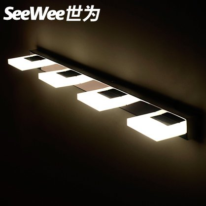 qwer Led before the mirror lamp bath bedroom waterproof wall lights modern minimalist bathroom vanity mirror, stylish lamps,6 and to highlight the 18W 120cm