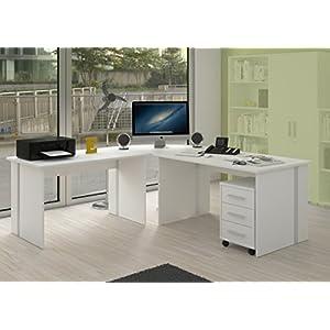 Möbel Pracht Schreibtisch – stabil, eignet Sich ideal für Home oder Büro Office – Eckschreibtisch – Gaming Tisch…