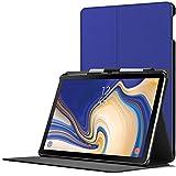 Forefront Cases Samsung Galaxy Tab S4 10.5 Hülle | Integrierter S-PEN Stifthalter & Stylusschutz | Magnetische Samsung Galaxy Tab S4 10.5 Zoll Tablet-PC SM-T830/T835 Cover | Automatische Schlaf-Wach-Funktion | Dünn Leicht | Königsblau