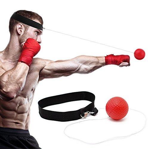 Reflex-Boxball zum Training zur Verbesserung der Geschwindigkeit und Reaktionsfähigkeit, für Punch, Fokus, Sport, Übung, Fitnesstrainer, elastisches Kopfband-Set, Kappe, Puncher