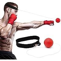 Reflex bola de boxeo para entrenamiento para mejorar la velocidad y reacciones Punch Focus deporte ejercicio ejercicios entrenamiento elástica banda para la cabeza de gorro perforadora
