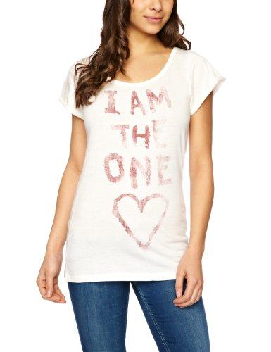 Replay Damen T-shirt , Crew Weiß - Milk White