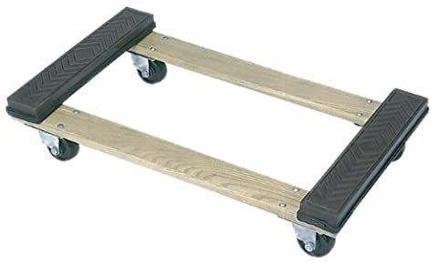 Wesco Industrial Products 272062 Wood Open Deck Rubber Ends Dolly with 3