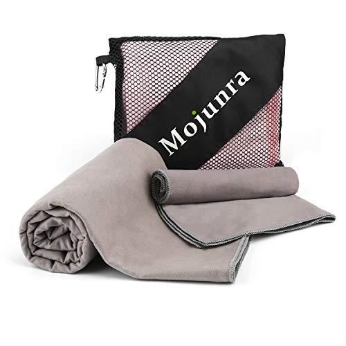 Mojunra Yoga Handtuch Set, Hot Yoga Handtuch rutschfest & Schnelltrocknend-Non Slip, Super Saugfähig, Schnelles Trocknen. Microfaser Handtücher für Sport, Fitness, Sauna-Frei Tragetasche Rutschfeste Non-slip