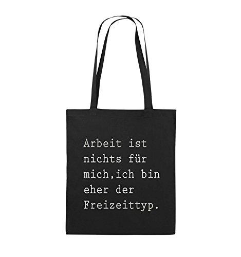 bin ehr Farbe ich mich für Schwarz nichts lange Schwarz ist Jutebeutel Freizeittyp 38x42cm Arbeit Silber der Comedy Henkel Bags Pink wqF011