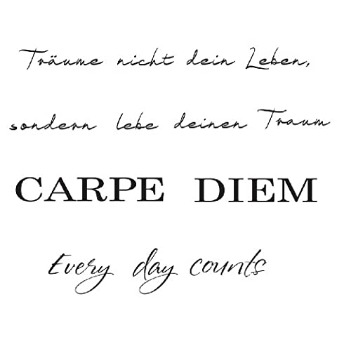 Eurographics DS-AHA1061 Deco Sticker Carpe Diem, 25 x 35 cm
