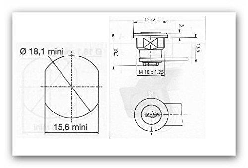 Briefkastenschloss passend für JU Briefkästen mit 4 Schlüssel - 2