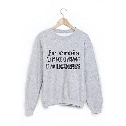 Sweat-Shirt-je-crois-au-prince-charmant-et-aux-licornes-ref-1063-M