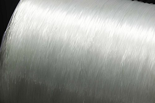 INWARIA Gummifaden elastisch 10m 0,25/0,4/0,5/0,6/0,7/0,8/1 mm Nylonfaden Gummiband, S59 (10m - 0.4mm, Transparent)