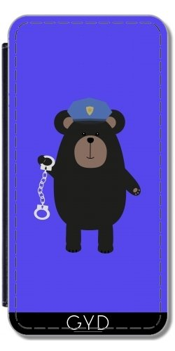 Custodia in PU Pelle per IPhone 5C - Polizia Orso