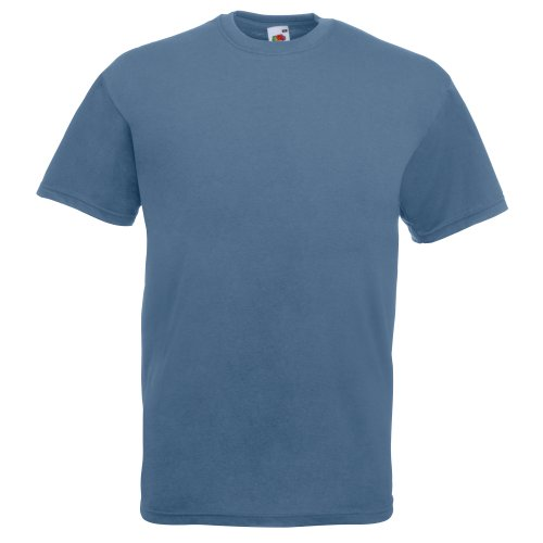Fruit of the Loom Herren T-Shirt Steel Blue