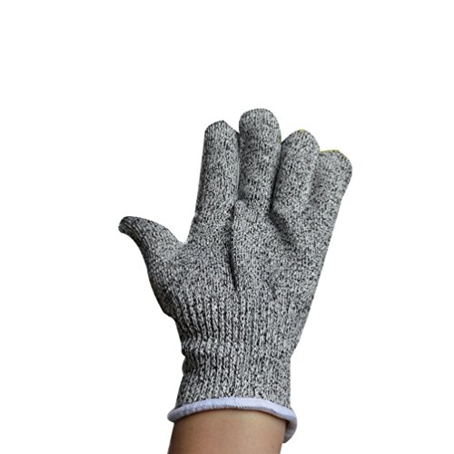 Anguang Schnittschutz-Handschuhe Küche Zimmerei Industrie Sicherheit Anti-Schnitt-Handschuhe Grau M