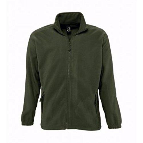 SOLS Herren Outdoor Fleece Jacke North Dunkles Violett