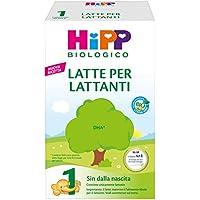 HiPP - Latte 1 Per Lattanti Bio, In Polvere, 4 Confezioni Da 600 G - 2400 g