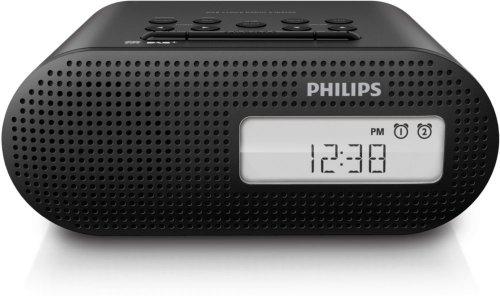 Philips AJB4700/12 Radiowecker (DAB+, UKW, 2 Weckzeiten, Sleep-Timer), schwarz
