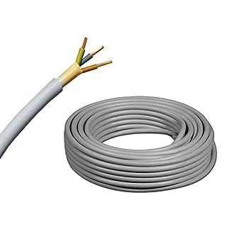 NYM-J 3x1,5 mm² - NYM-J 3x1,5 mm2 - Mantelleitung - Installationsleitung - grau - große Auswahl - Beispiel: 5 m - 15 m - 25 m - 50 m - 60 m - 70 m - 80 m - 90 m - 100 m - 110 m – bis max. 250 Meter