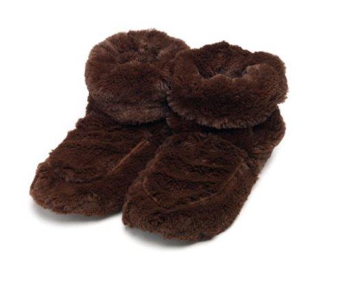Furry Warmers - Stivaletti in pelo sintetico, colore: Marrone