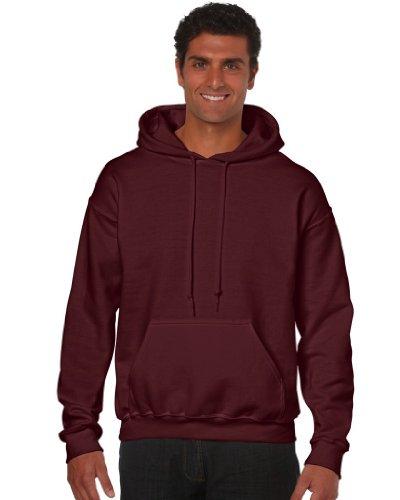 Maroon Kapuze Sweatshirt (Gildan Heavy Blend Erwachsenen Kapuzen-Sweatshirt 18500, Maroon, L)