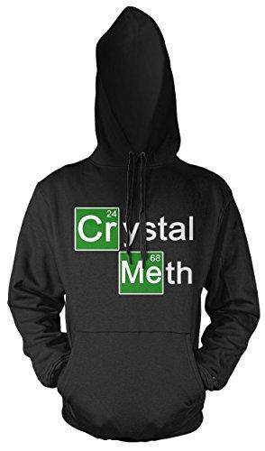 Crystal Meth Männer und Herren Kapuzenpullover | Spruch Walter White Geschenk (4XL, Schwarz) (Crystal Meth Kostüm)