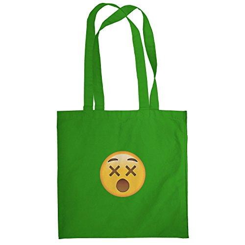 Texlab–dizzy Face Emoji–sacchetto di stoffa Verde