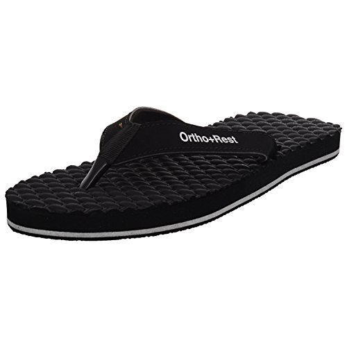Ortho + Rest Women's Black Slippers-6(LA224BLACK6)