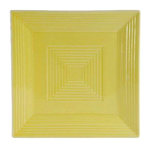 CAC China TGO-SQ6 Tango Bone Porzellan-Teller, quadratisch, Weiß 24er-Box 8-Inch sonnenblume - Teller, China Weiße Quadratische