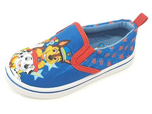 Zapatos de Lona Planos para niños y niñas de Paw Patrol, Talla 5-10, Color Azul, Talla 25 EU