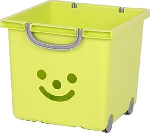 boite de rangement enfant bac sourire jouets de rangement panier de rangement roulettes. Black Bedroom Furniture Sets. Home Design Ideas