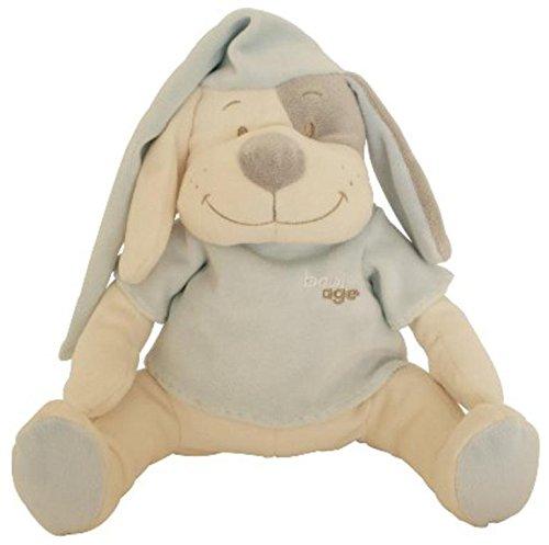 Doodoo Babiage Perrito Azul - Juguete de peluche con módulo de sonido que hace sonidos del utero para calmar a un bebé recién nacido