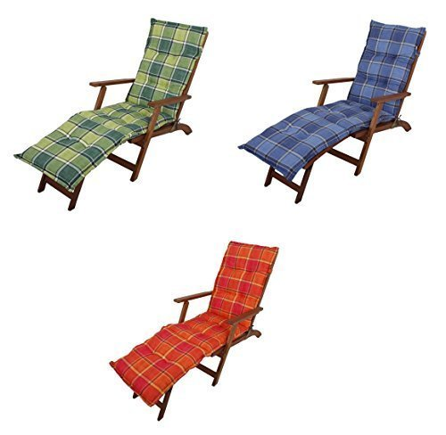 Auflage für Liegestühle / Deckchairs in drei Farbvarianten (Blau)