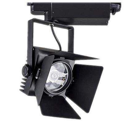 Foco carril CINEMA CREE LED, negro, 35W, Blanco neutro