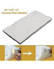 Aluminium Silicate High-Temperature Insulation Ceramic Fiber Blanket (24 x 12 x 1-Inch)