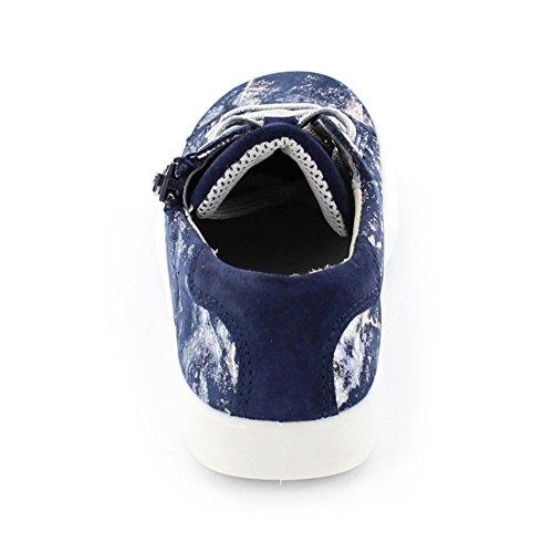 Superfit Marley Kinder Schnürschuhe aus Leder in blau kombi Ocean Kombi