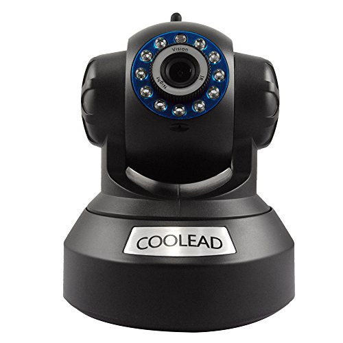 COOLEAD L-610WS Wireless IP camera WebCam /Tilt 2-ways Audio Mobile Viewing WEP/WPA/WAP2 wireless Wi-Fi Pan/Tilt internet IP camera day and night vision CCTV security monitor built-in microphone and speaker allow you to communicate with people directly su