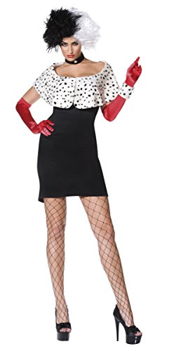 Cruella De Vil Kostüm 101 Dalmatiner, Größe:L
