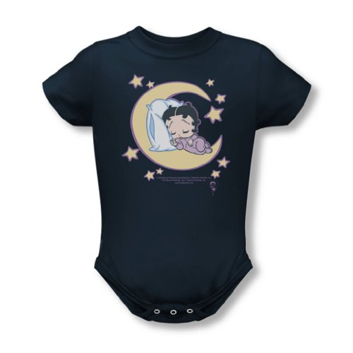 Time Baby T-Shirt in Navy, 0-6 Months, Navy (Baby Betty Boop)