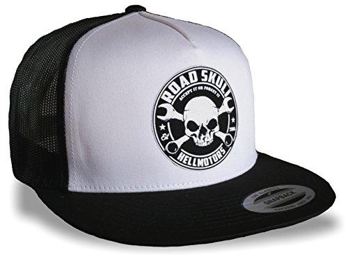 HELLMOTORS Road Skull Snapback Cap Classic Flexfit Oldschool Kappe -